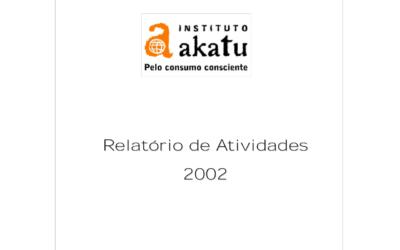 Relatório de Atividades 2002