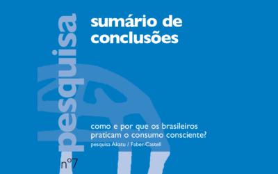 Como e por que os brasileiros praticam o consumo consciente? Sumário e Conclusões da Pesquisa Akatu