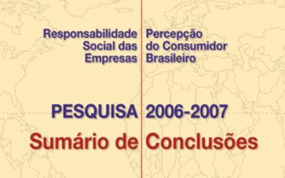 Sumário Pesquisa 2006 e 2007: RSE – Percepção do Consumidor Brasileiro