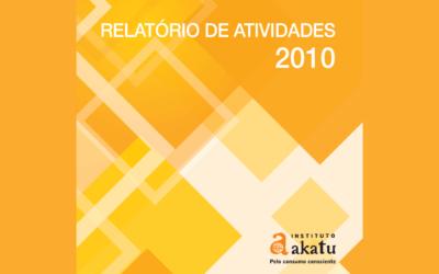 Relatório de Atividades 2010