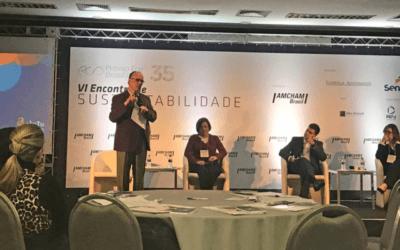 Helio Mattar faz palestra sobre sustentabilidade e valores femininos na Amcham