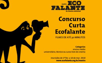 Inscrições para Concurso Curta Ecofalante terminam no dia 10 de março