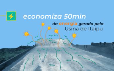 Economize a energia produzida na usina de Itaipu