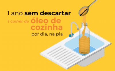 Não jogue óleo de cozinha na pia e evite a poluição de muita água