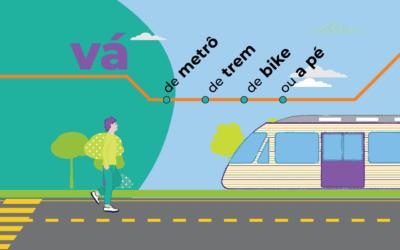 Vá de metro, trem, bike ou a pé!