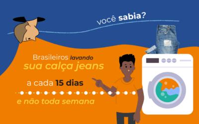 Reduza a frequência de lavagem de uma calça jeans e ajude a poupar 60 Maracanãs cheios de água!