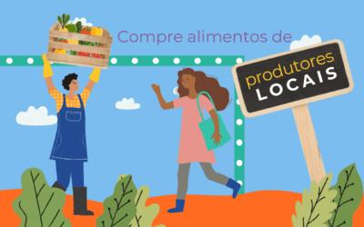 Compre alimentos de pequenos produtores locais