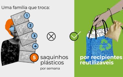 Troque os saquinhos plásticos por recipientes reutilizáveis